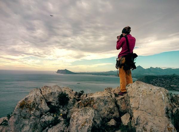 Fotografieren beim Klettern